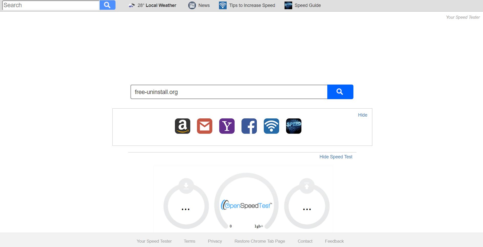 Search.yourspeedtester.com Hijacker