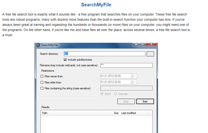 ads by SearchMyFile