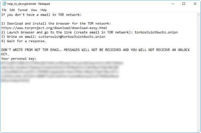 yyto ransomware note