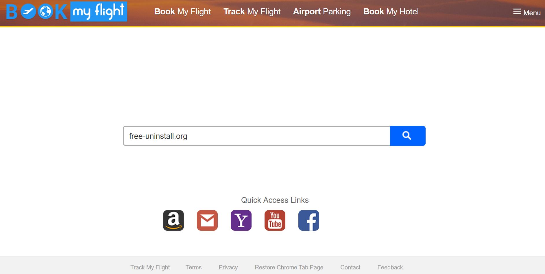 Search.htrackmyflight.co Hijacker