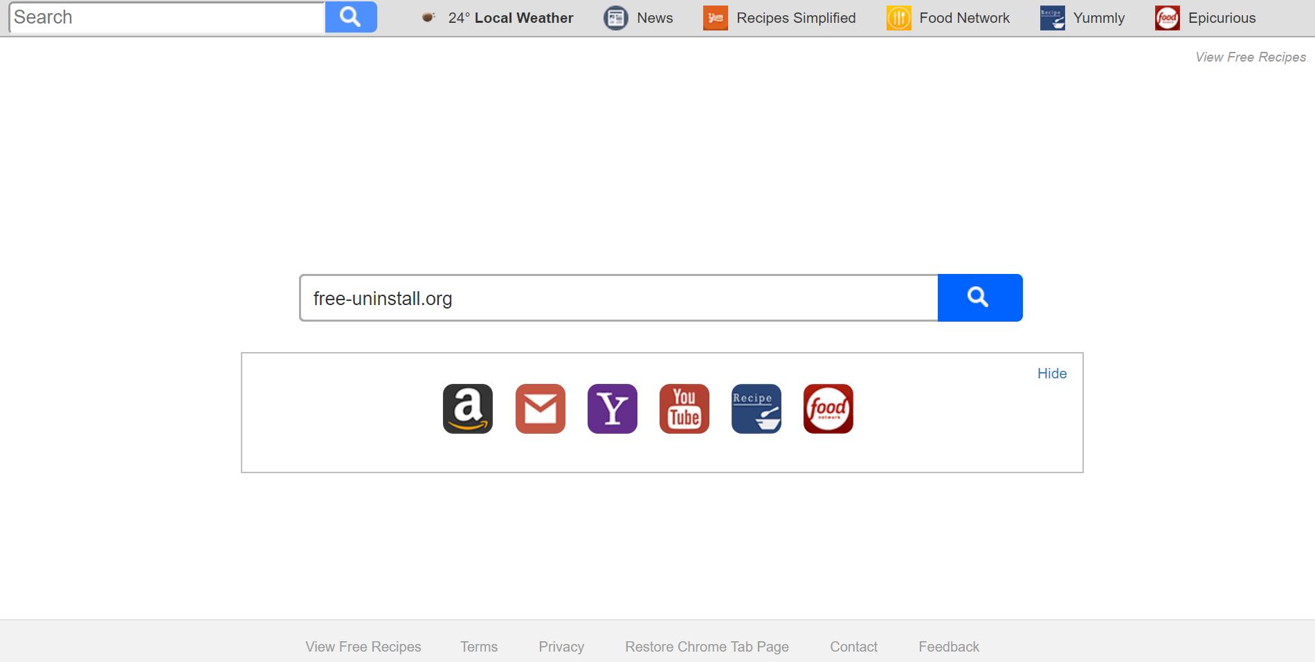 Search.searchvfr.com Hijacker