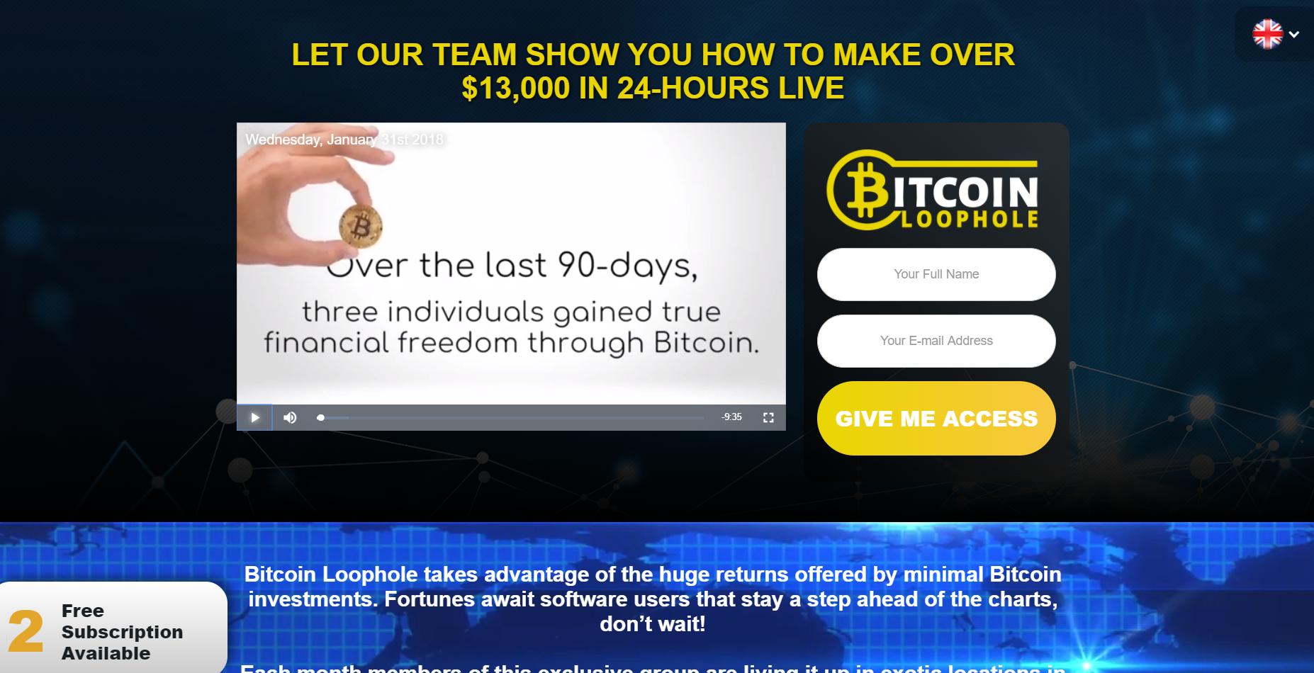 ads by Bitcoinloophole.co