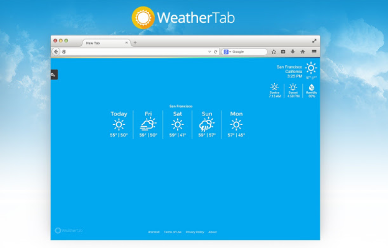 ads by Weathertab For Chrome