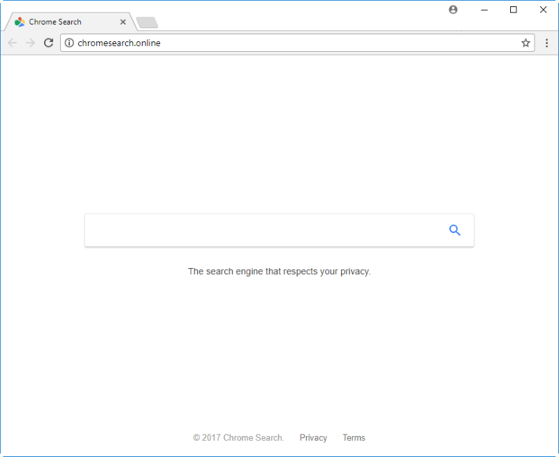 Chromesearch.online hijacker