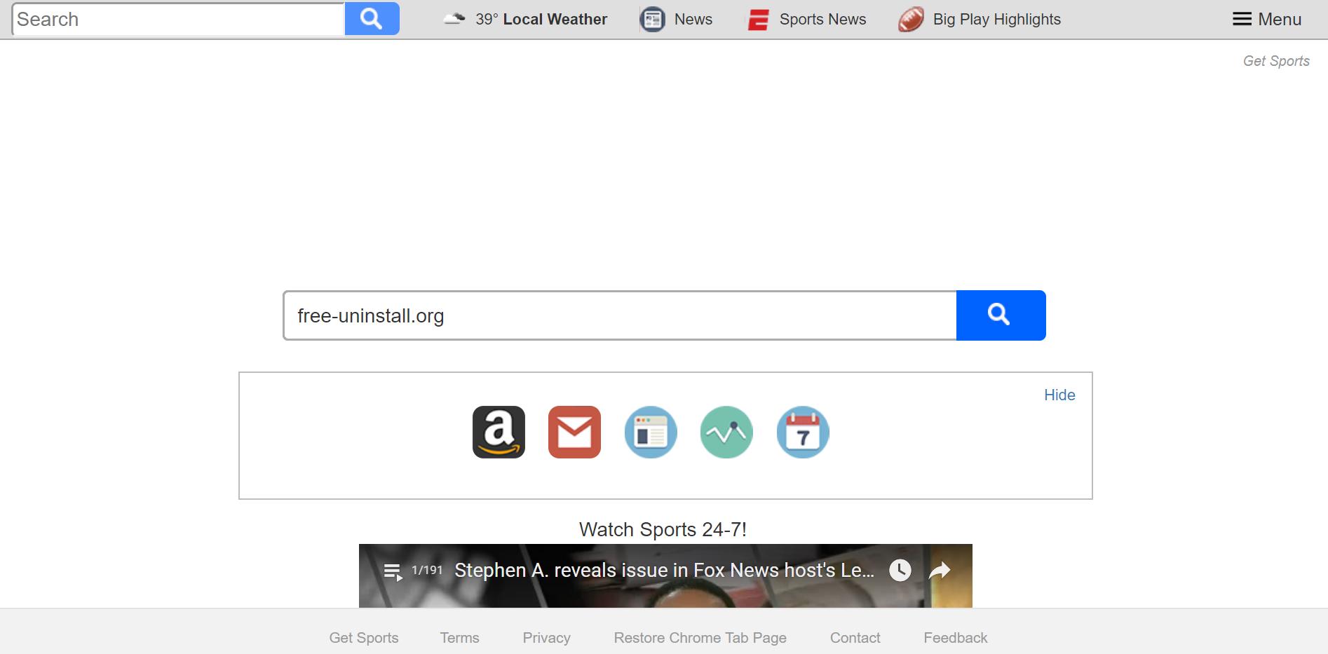 Search.hgetsports.net Hijacker