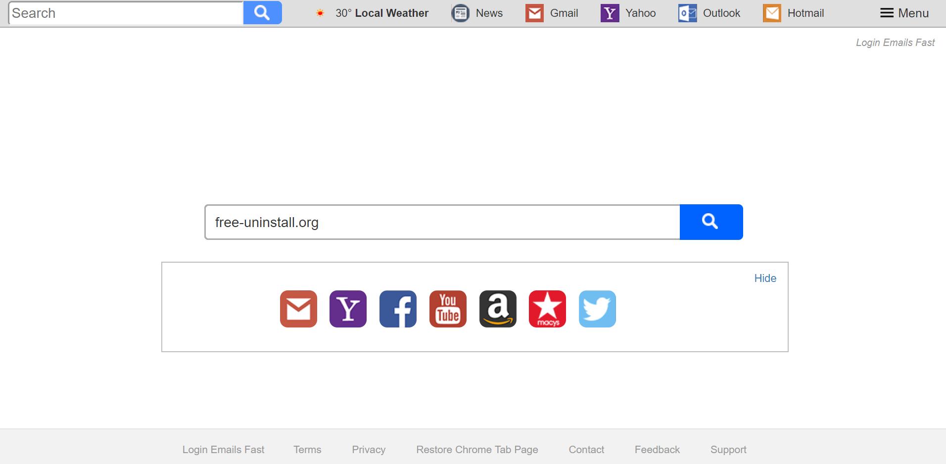 Search.searchlef.com Hijacker