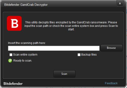 bitdefender decryptor for gandcrab ransomware