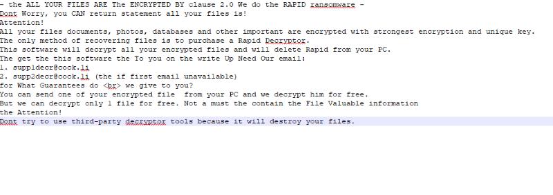 Rapid Ransomware 2.0