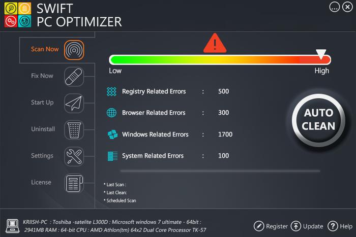Swift PC Optimizer PUP