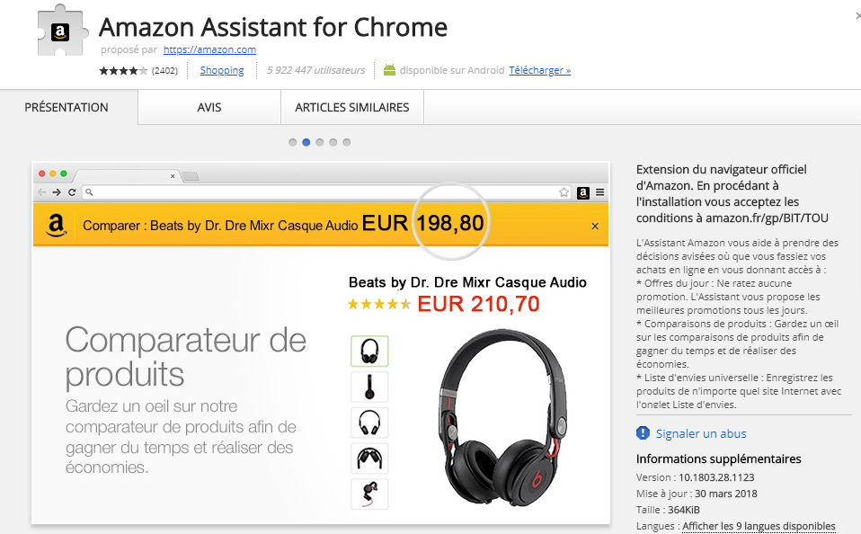 ads by Amazon Assistant for Chrome