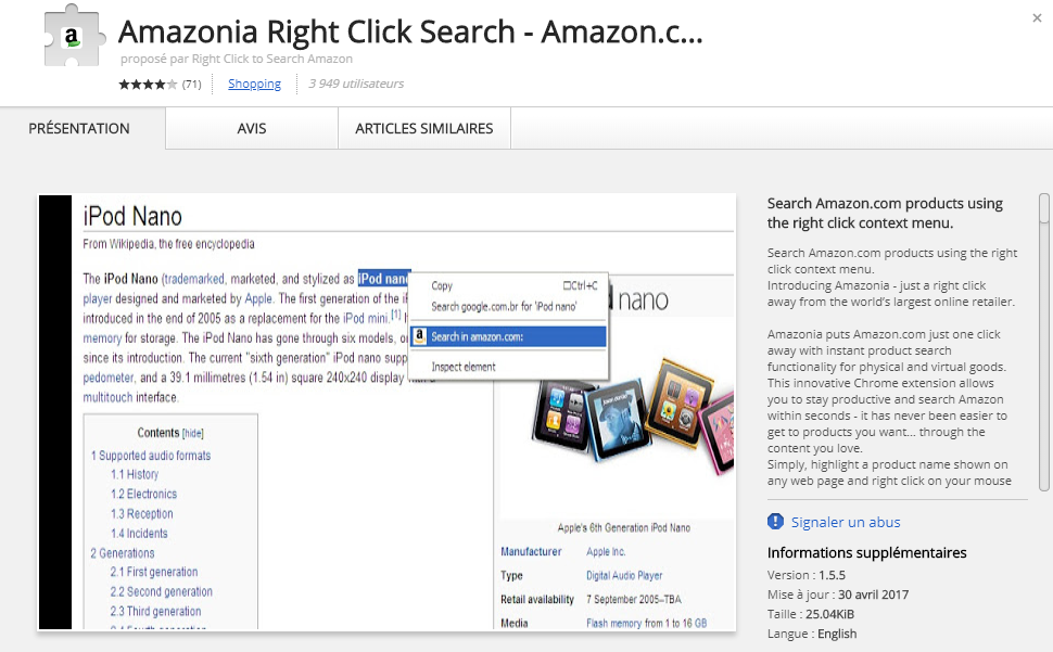 ads by Amazonia Right Click Search