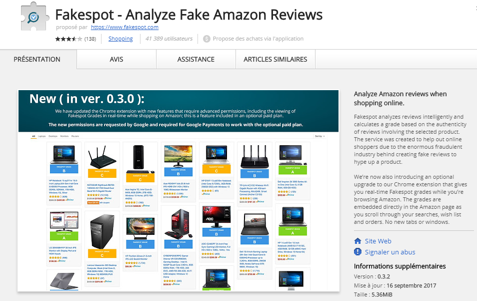 ads by Fakespot - Analyze Fake Amazon Reviews