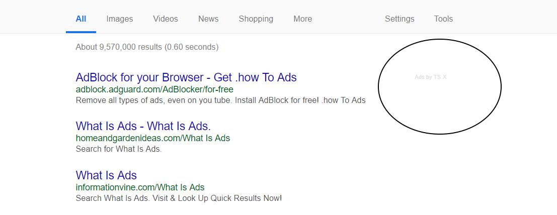 Ads by TS virus
