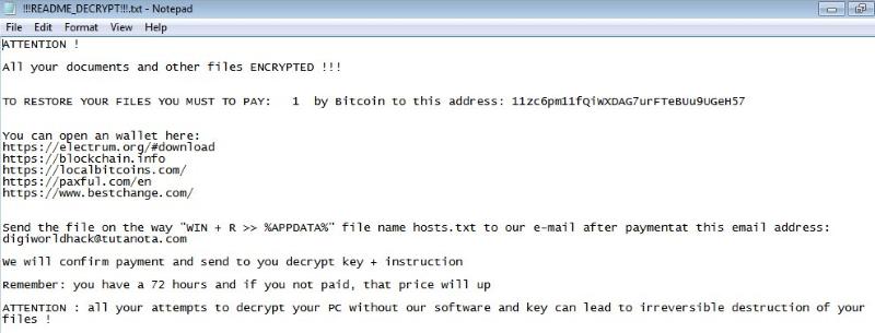 PGPSnippet Ransomware virus