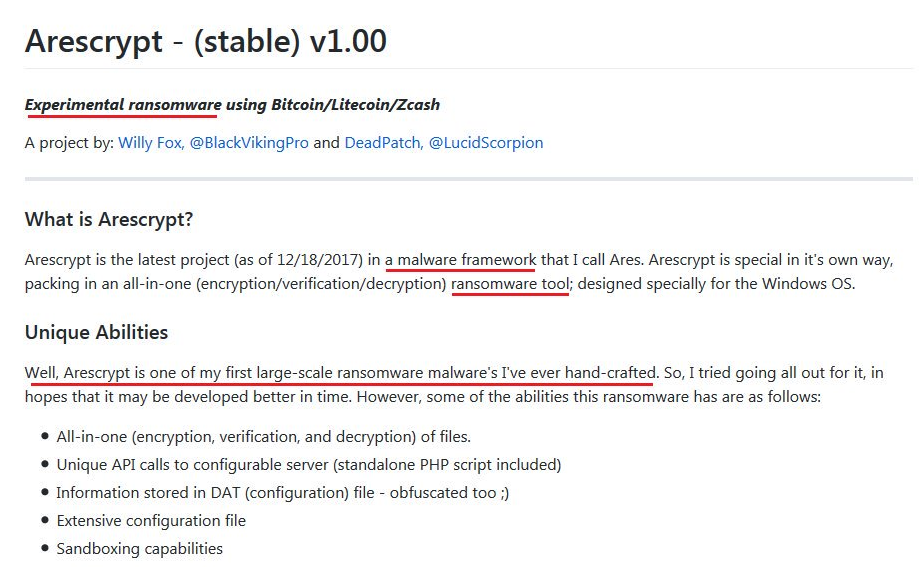 AresCrypt ransomware