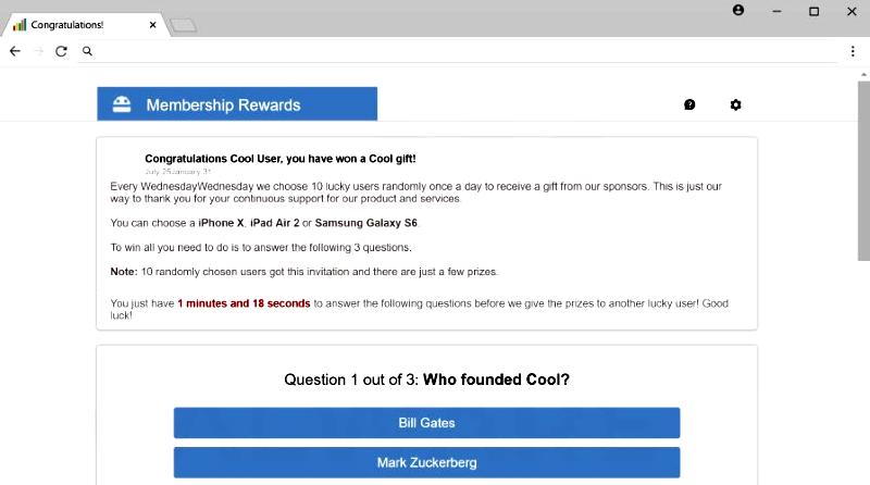 Membership Rewards Congratulation User pop up