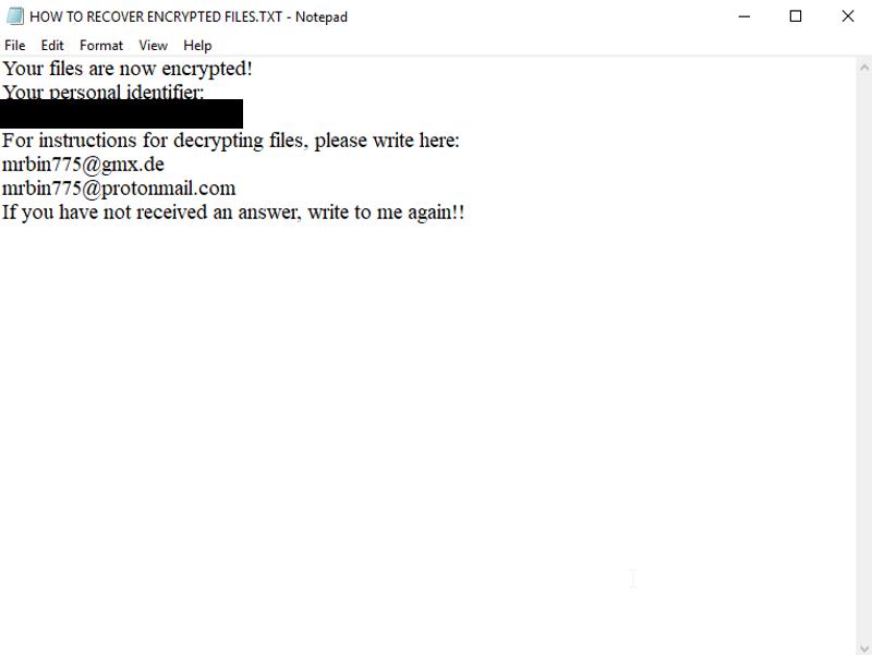 Scarab Bin ransomware