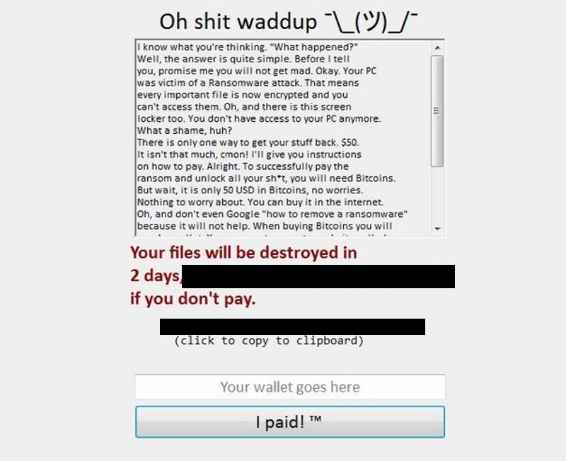 Shrug ransomware.png
