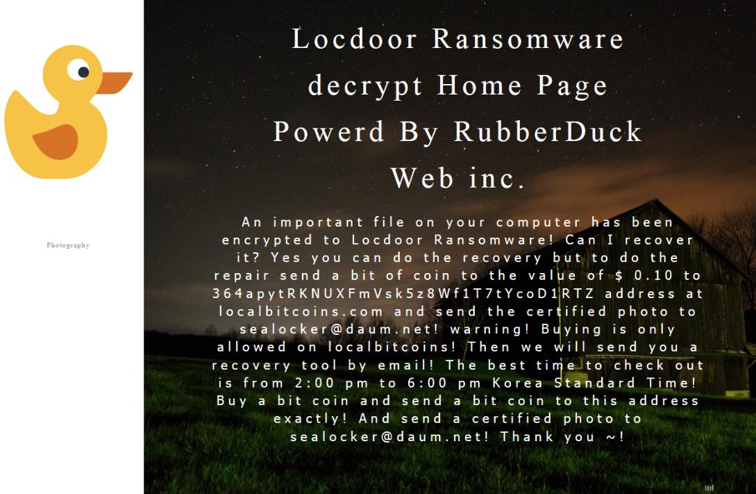 Locdoor ransomware