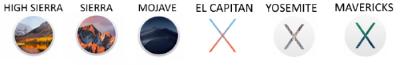 MacOS versions