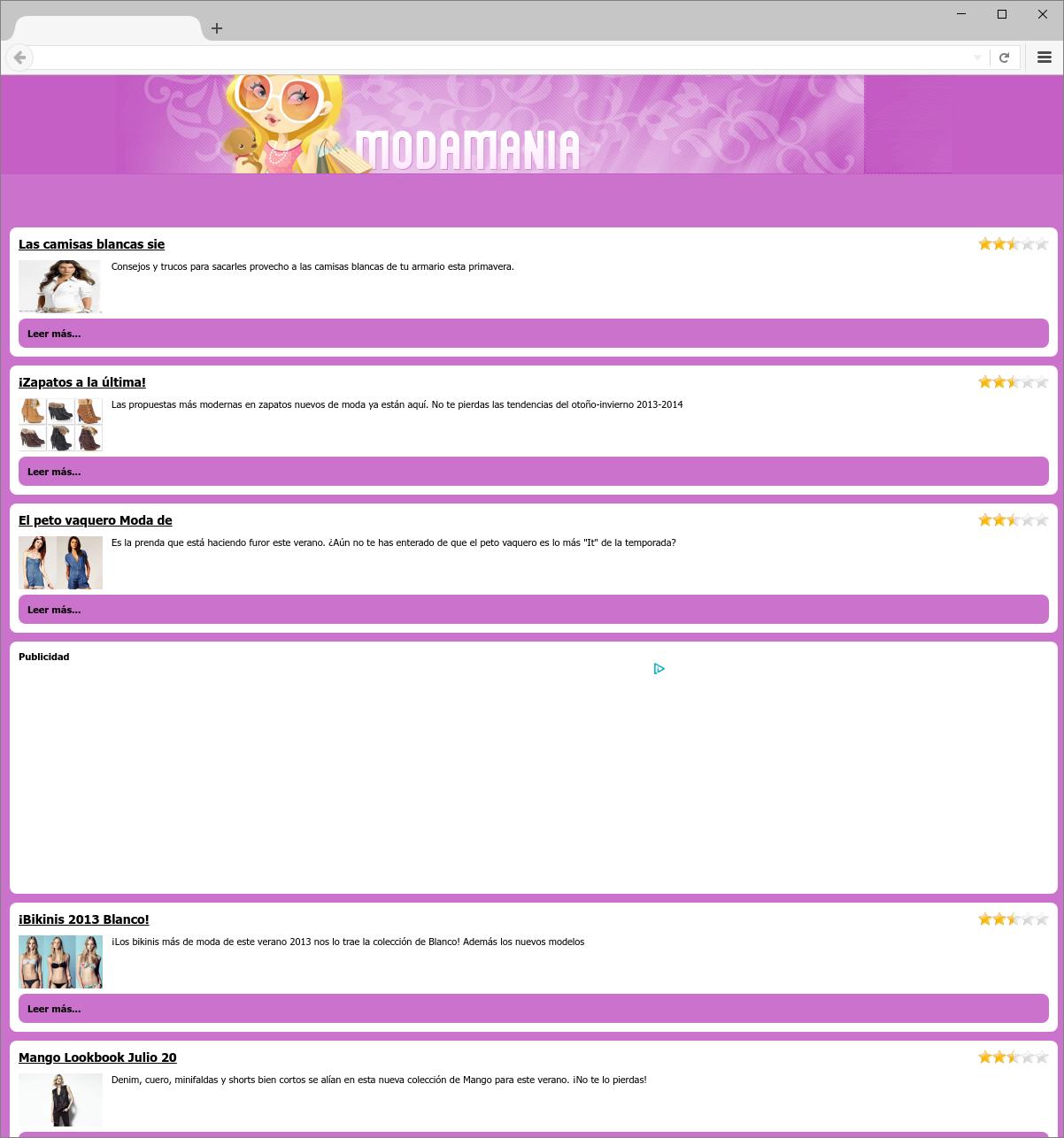 Modamania.es Adware