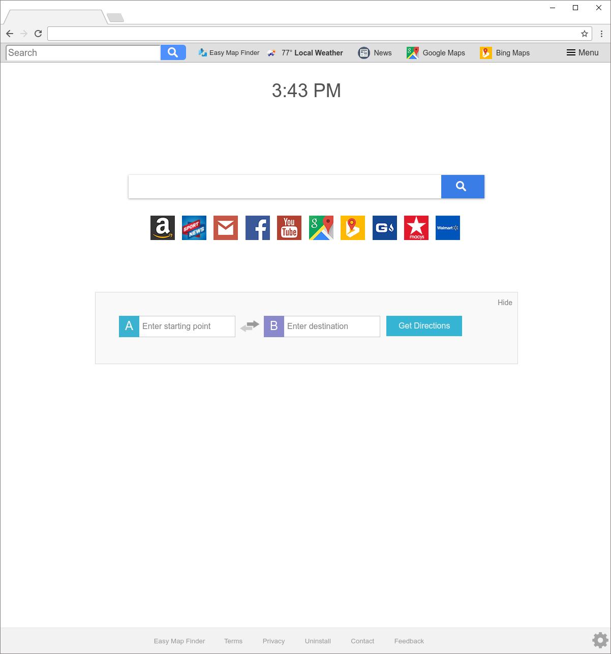 Search.heasymapfinder.net hijacker