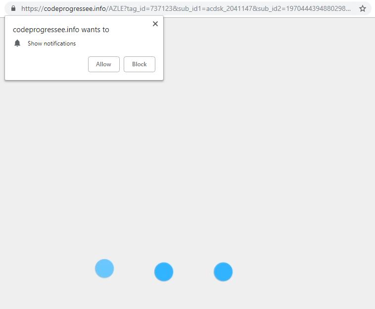 Codeprogressee.info virus