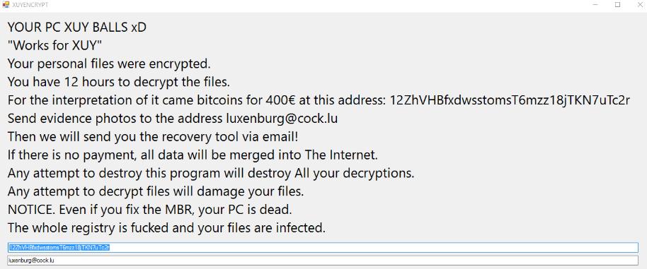 XyuEncrypt Ransomware