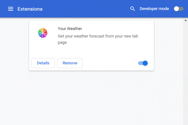 Your Weather Extension