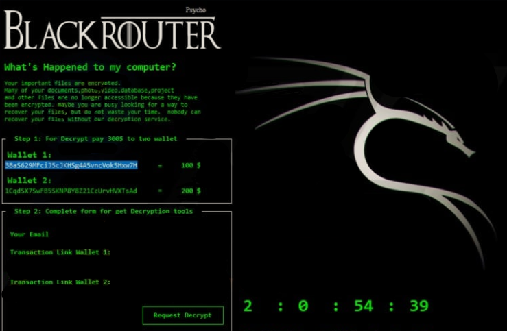 BlackRouter Ransomware Ransomware