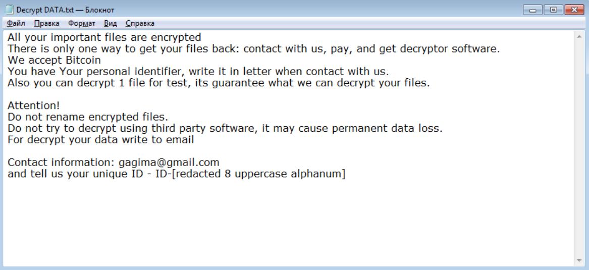 Gillette Ransomware Ransomware