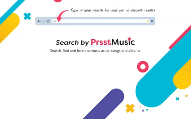 Search By PrsstMusic pop-ups adware