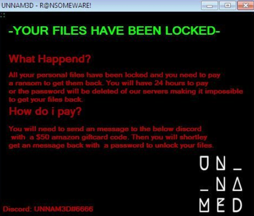 UNNAM3D Ransomware Ransomware
