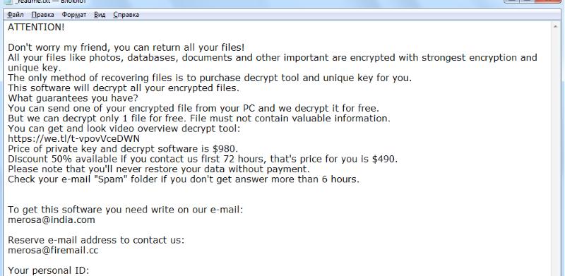Refols Ransomware