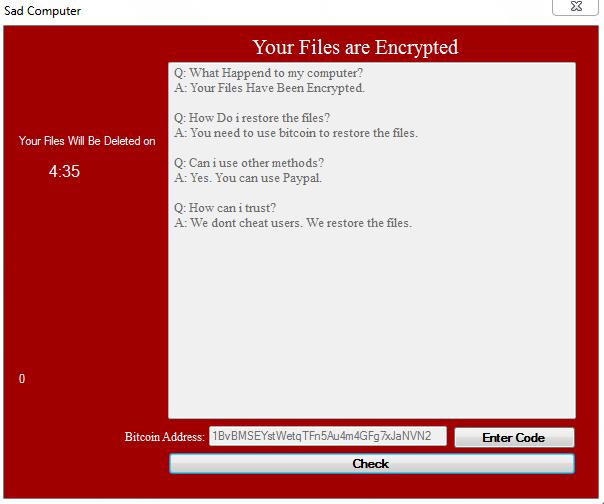 SadComputer Ransomware