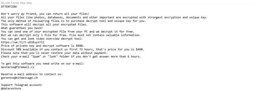 Codnat Ransomware