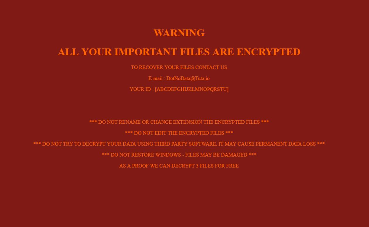 DotNoData Ransomware