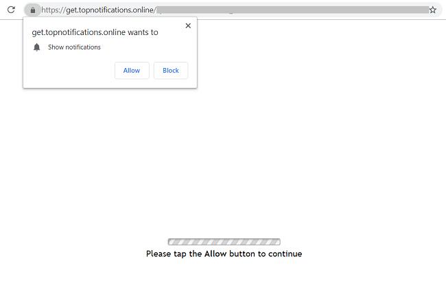 Get.topnotifications.online pop-up virus