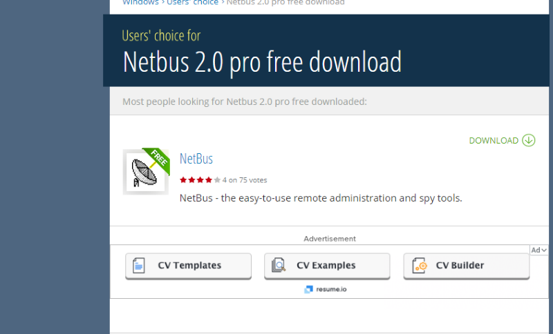 Netbus download page