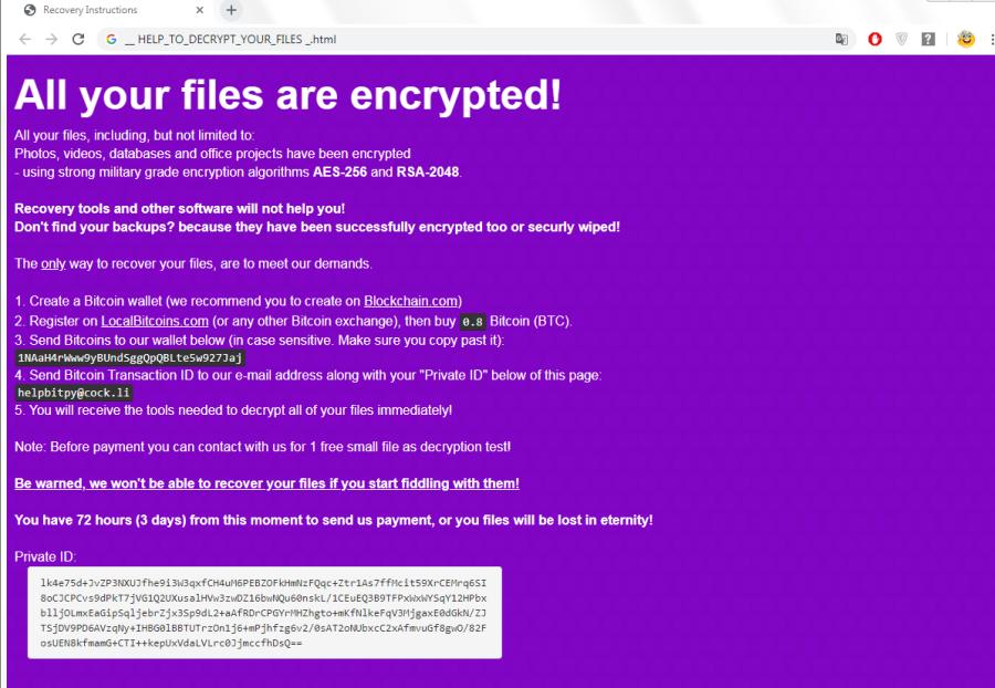 remove BitPyLock ransomware