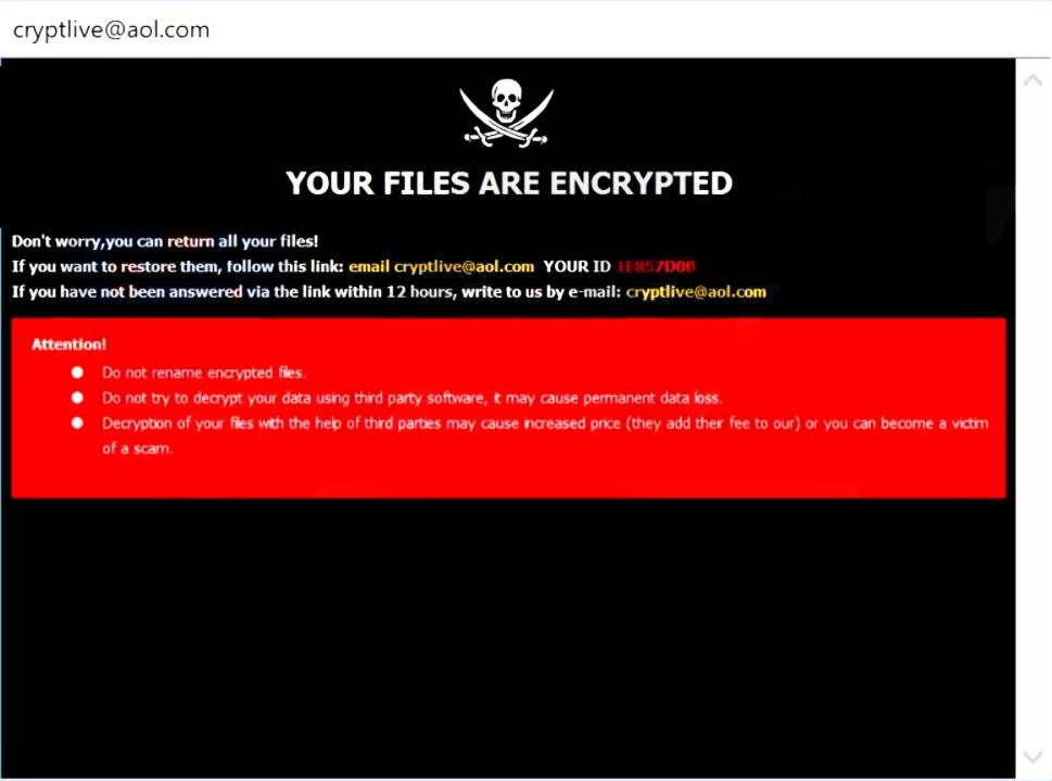 remove Live ransomware