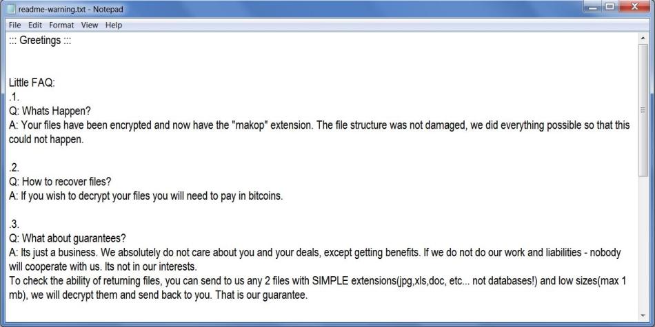 remove Makop ransomware