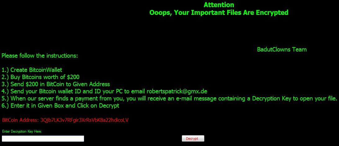remove BadutClowns ransom note