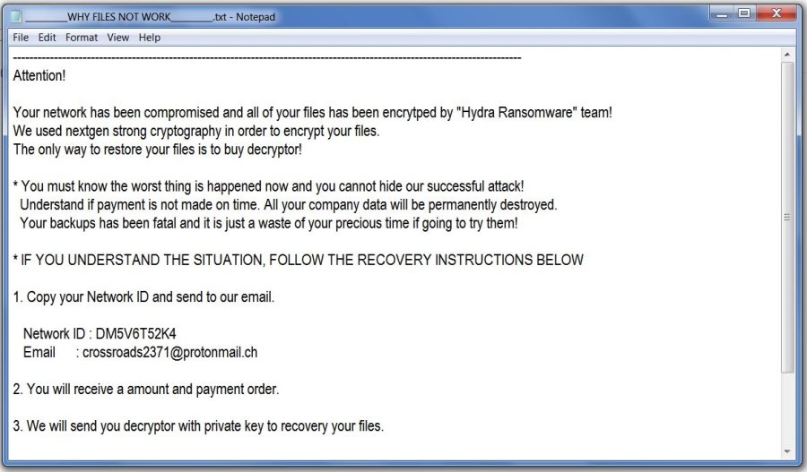 remove MZ Hidra ransomware