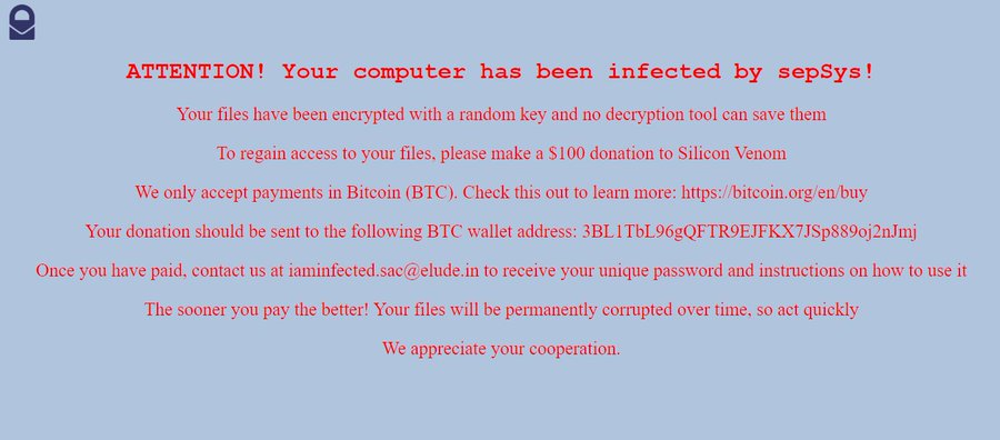 remove SepSys ransomware
