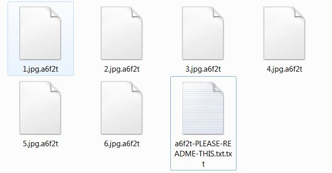 Sodinokibi encrypted files