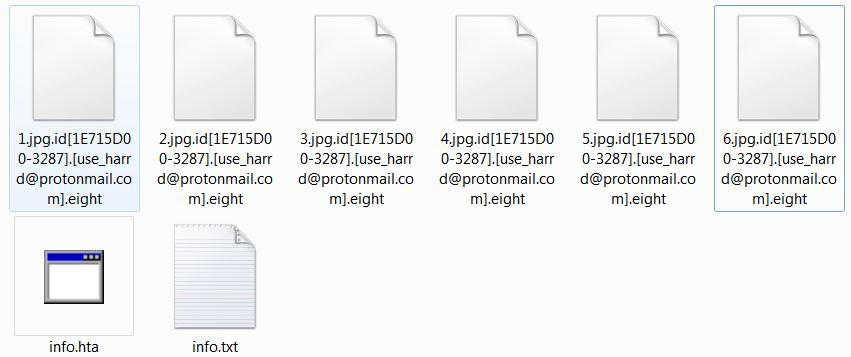 Eight encrypted files