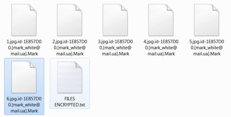 Mark encrypted files