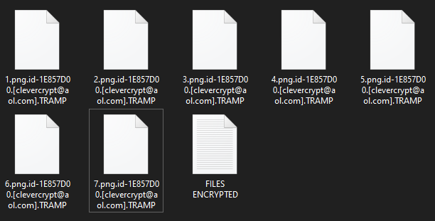 Tramp encrypted files