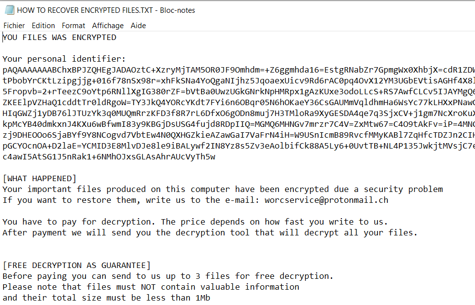 remove Worcservice ransomware